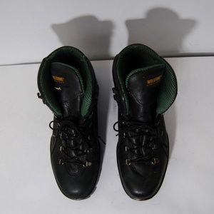 Wolverine Shoes - Wolverine Durashock Black Steel Toe Work Boots